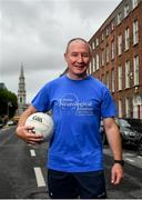 4 July 2020; Freeman of Dublin and former Dublin senior men's team manager Jim Gavin following the Dublin Neurological Institute 150km Frontline Run at Eccles Street in Dublin. The DNI is a registered charity where we care for patients with neurological diseases including Parkinson, Epilepsy, Motor Neuron Disease, Multiple Sclerosis, Headache, Stroke and many more is holding hold a fundraising run with staff members running this weekend to raise much needed funds. The goal is to run 150km between staff over the course of Saturday the 4th and Sunday the 5th of July. Donations can be made at https://tinyurl.com/yd3a4d8d . The run can be tracked using the free app 'Map My Run' and anyone who wishes to join in the run is very welcome. Photo by David Fitzgerald/Sportsfile
