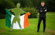 8 July 2020; Republic of Ireland manager Stephen Kenny poses for a portrait prior to a press conference at FAI Headquarters in Abbotstown, Dublin. Photo by Stephen McCarthy/Sportsfile