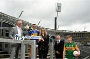 15 July 2020; In attendance, from left are, General Manager of FRS Recruitment Colin Donnery, Tipperary hurler John McGrath, Project Manager Erin Whittle, Commercial Director of the GAA and Kerry footballer Tommy Walsh as FRS Recruitment announce GAAGO Sponsorship at Croke Park in Dublin. Photo by David Fitzgerald/Sportsfile