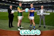 15 July 2020; In attendance, from left are, Commercial Director of the GAA and Croke Park Stadium Director Peter McKenna, Kerry footballer Tommy Walsh, Tipperary hurler John McGrath and General Manager of FRS Recruitment Colin Donnery as FRS Recruitment announce GAAGO Sponsorship at Croke Park in Dublin. Photo by David Fitzgerald/Sportsfile