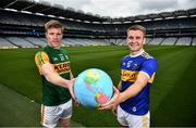 15 July 2020; Kerry footballer Tommy Walsh, left, and Tipperary hurler John McGrath in attendance as FRS Recruitment announce GAAGO Sponsorship at Croke Park in Dublin. Photo by David Fitzgerald/Sportsfile