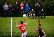9 July 2020; Spectators look on during the Senior Football Club Challenge match between Fingallians and Clontarf at Lawless Memorial Park in Swords, Dublin. Photo by Stephen McCarthy/Sportsfile