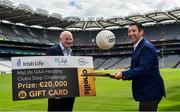 10 July 2020; Uachtarán Chumann Lúthchleas Gael John Horan and Irish Life CEO Declan Bulger in attendance during the launch of the MyLife GAA Healthy Clubs Steps Challenge at Croke Park in Dublin. Photo by David Fitzgerald/Sportsfile