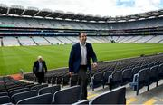 10 July 2020; Irish Life CEO Declan Bulger and Uachtarán Chumann Lúthchleas Gael John Horan in attendance during the launch of the MyLife GAA Healthy Clubs Steps Challenge at Croke Park in Dublin. Photo by David Fitzgerald/Sportsfile