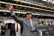 7 June 2015; Former Republic of Ireland manager Jack Charlton is introduced to the crowd ahead of the Three International Friendly match between Republic of Ireland and England at the Aviva Stadium, Lansdowne Road in Dublin. Photo by David Maher/Sportsfile
