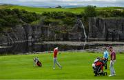 13 July 2020; Jack Doherty watches his shot from the 7th fairway during the Flogas Irish Scratch Series at The K Club in Straffan, Kildare. Photo by Ramsey Cardy/Sportsfile