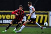 14 July 2020; Andy Lyons of Bohemians and Daniel Kelly of Dundalk during a Club Friendly between Dundalk and Bohemians at Oriel Park in Dundalk, Louth. Photo by Ben McShane/Sportsfile