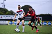 14 July 2020; Michael Duffy of Dundalk and Andy Lyons of Bohemians during a Club Friendly between Dundalk and Bohemians at Oriel Park in Dundalk, Louth. Photo by Ben McShane/Sportsfile