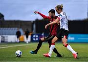 14 July 2020; Danny Mandroiu of Bohemians and Greg Sloggett of Dundalk during a Club Friendly between Dundalk and Bohemians at Oriel Park in Dundalk, Louth. Photo by Ben McShane/Sportsfile