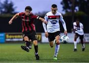 14 July 2020; Keith Buckley of Bohemians and Darragh Leahy of Dundalk during a Club Friendly between Dundalk and Bohemians at Oriel Park in Dundalk, Louth. Photo by Ben McShane/Sportsfile