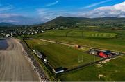 16 July 2020; An aerial view of Gallaras, the home ground of An Ghaeltacht GAA Club in Murreagh, Kerry. Photo by Ramsey Cardy/Sportsfile