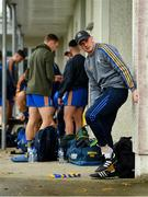 17 July 2020; Gareth Rooney of Ratoath changes outside of the dressing room prior to the Meath County Senior Football League Division 1 Group C Round 1 match between Ratoath and Syddan at Sean Eiffe Park in Ratoath, Meath. Competitive GAA matches have been approved to return following the guidelines of Phase 3 of the Irish Government's Roadmap for Reopening of Society and Business and protocols set down by the GAA governing authorities. With games having been suspended since March, competitive games can take place with updated protocols including a limit of 200 individuals at any one outdoor event, including players, officials and a limited number of spectators, with social distancing, hand sanitisation and face masks being worn by those in attendance among other measures in an effort to contain the spread of the Coronavirus (COVID-19) pandemic. Photo by Seb Daly/Sportsfile