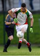 17 July 2020; Seanie Furlong of Kiltegan during the Wicklow County Senior Football Championship Round 1 match between Tinahely and Kiltegan at Baltinglass GAA Club in Baltinglass, Wicklow. Competitive GAA matches have been approved to return following the guidelines of Phase 3 of the Irish Government's Roadmap for Reopening of Society and Business and protocols set down by the GAA governing authorities. With games having been suspended since March, competitive games can take place with updated protocols including a limit of 200 individuals at any one outdoor event, including players, officials and a limited number of spectators, with social distancing, hand sanitisation and face masks being worn by those in attendance among other measures in an effort to contain the spread of the Coronavirus (COVID-19) pandemic. Photo by Matt Browne/Sportsfile