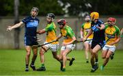 18 July 2020; Danny Sutcliffe of St Jude's in action against Stephen Casey of Faughs during the Dublin County Senior Hurling Championship Group 3 Round 1 match between Faughs and St Jude's at O'Toole Park in Dublin. Competitive GAA matches have been approved to return following the guidelines of Phase 3 of the Irish Government's Roadmap for Reopening of Society and Business and protocols set down by the GAA governing authorities. With games having been suspended since March, competitive games can take place with updated protocols including a limit of 200 individuals at any one outdoor event, including players, officials and a limited number of spectators, with social distancing, hand sanitisation and face masks being worn by those in attendance among other measures in an effort to contain the spread of the Coronavirus (COVID-19) pandemic. Photo by David Fitzgerald/Sportsfile