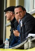 18 July 2020; Wexford manager Davy Fitzgerald watches the game from the commentary position during the Wexford County Senior Hurling Championship Group B Round 1 match between Ferns St Aidan's and Faythe Harriers at Bellefield in Enniscorthy, Wexford. Competitive GAA matches have been approved to return following the guidelines of Phase 3 of the Irish Government's Roadmap for Reopening of Society and Business and protocols set down by the GAA governing authorities. With games having been suspended since March, competitive games can take place with updated protocols including a limit of 200 individuals at any one outdoor event, including players, officials and a limited number of spectators, with social distancing, hand sanitisation and face masks being worn by those in attendance among other measures in an effort to contain the spread of the Coronavirus (COVID-19) pandemic. Photo by Eóin Noonan/Sportsfile