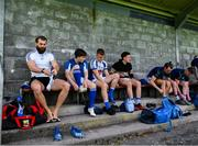 18 July 2020; Aidan O'Shea and his Breaffy team-mates prepare ahead of the Michael Walsh Secondary Senior Football League match between Breaffy and Garrymore at Breaffy GAA Club in Mayo. Competitive GAA matches have been approved to return following the guidelines of Phase 3 of the Irish Government's Roadmap for Reopening of Society and Business and protocols set down by the GAA governing authorities. With games having been suspended since March, competitive games can take place with updated protocols including a limit of 200 individuals at any one outdoor event, including players, officials and a limited number of spectators, with social distancing, hand sanitisation and face masks being worn by those in attendance among other measures in an effort to contain the spread of the Coronavirus (COVID-19) pandemic. Photo by Stephen McCarthy/Sportsfile