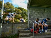 18 July 2020; Breaffy players, from left, Dylan Canon, James Minogue and Aidan O'Shea prior to the Michael Walsh Secondary Senior Football League match between Breaffy and Garrymore at Breaffy GAA Club in Mayo. Competitive GAA matches have been approved to return following the guidelines of Phase 3 of the Irish Government's Roadmap for Reopening of Society and Business and protocols set down by the GAA governing authorities. With games having been suspended since March, competitive games can take place with updated protocols including a limit of 200 individuals at any one outdoor event, including players, officials and a limited number of spectators, with social distancing, hand sanitisation and face masks being worn by those in attendance among other measures in an effort to contain the spread of the Coronavirus (COVID-19) pandemic. Photo by Stephen McCarthy/Sportsfile