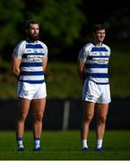 18 July 2020; Aidan O'Shea, left, and Conor O'Shea of Breaffy during a minutes silence prior to the Michael Walsh Secondary Senior Football League match between Breaffy and Garrymore at Breaffy GAA Club in Mayo. Competitive GAA matches have been approved to return following the guidelines of Phase 3 of the Irish Government's Roadmap for Reopening of Society and Business and protocols set down by the GAA governing authorities. With games having been suspended since March, competitive games can take place with updated protocols including a limit of 200 individuals at any one outdoor event, including players, officials and a limited number of spectators, with social distancing, hand sanitisation and face masks being worn by those in attendance among other measures in an effort to contain the spread of the Coronavirus (COVID-19) pandemic. Photo by Stephen McCarthy/Sportsfile
