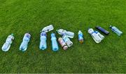 17 July 2020; Water bottles on the sideline before the Leinster GAA Colleges Senior A Football Final match between Naas CBS and St Joseph's SS, Rochfortbridge at Bord na Móna O'Connor Park in Tullamore, Offaly. Competitive GAA matches have been approved to return following the guidelines of Phase 3 of the Irish Government's Roadmap for Reopening of Society and Business and protocols set down by the GAA governing authorities. With games having been suspended since March, competitive games can take place with updated protocols including a limit of 200 individuals at any one outdoor event, including players, officials and a limited number of spectators, with social distancing, hand sanitisation and face masks being worn by those in attendance among other measures in an effort to contain the spread of the Coronavirus (COVID-19) pandemic. Photo by Piaras Ó Mídheach/Sportsfile