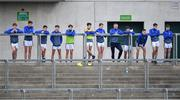 17 July 2020; Some of the Naas CBS substitutes look on during the Leinster GAA Colleges Senior A Football Final match between Naas CBS and St Joseph's SS, Rochfortbridge at Bord na Móna O'Connor Park in Tullamore, Offaly. Competitive GAA matches have been approved to return following the guidelines of Phase 3 of the Irish Government's Roadmap for Reopening of Society and Business and protocols set down by the GAA governing authorities. With games having been suspended since March, competitive games can take place with updated protocols including a limit of 200 individuals at any one outdoor event, including players, officials and a limited number of spectators, with social distancing, hand sanitisation and face masks being worn by those in attendance among other measures in an effort to contain the spread of the Coronavirus (COVID-19) pandemic. Photo by Piaras Ó Mídheach/Sportsfile