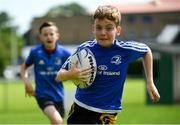 20 July 2020; Jack Lawlor, age 11, from Dunboyne, Meath, in action during the Bank of Ireland Leinster Rugby Summer Camp at Westmanstown RFC in Clonsilla, Dublin. Photo by Seb Daly/Sportsfile