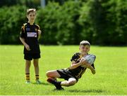 20 July 2020; Daithí McGovern, age 11, from Dunboyne, Meath, in action during the Bank of Ireland Leinster Rugby Summer Camp at Westmanstown RFC in Clonsilla, Dublin. Photo by Seb Daly/Sportsfile