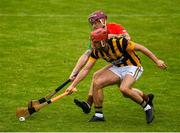 18 July 2020; Darragh Pepper of Rapparees-Starlights in action against Jody Donohoe of Shelmaliers during the Wexford County Senior Hurling Championship Group D Round 1 match between Rapparees-Starlights and Shelmaliers at Chadwicks Wexford Park in Wexford. Competitive GAA matches have been approved to return following the guidelines of Phase 3 of the Irish Government's Roadmap for Reopening of Society and Business and protocols set down by the GAA governing authorities. With games having been suspended since March, competitive games can take place with updated protocols including a limit of 200 individuals at any one outdoor event, including players, officials and a limited number of spectators, with social distancing, hand sanitisation and face masks being worn by those in attendance among other measures in an effort to contain the spread of the Coronavirus (COVID-19) pandemic. Photo by Sam Barnes/Sportsfile