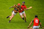 18 July 2020; Conor Hearne of Shelmaliers in action against Nathan O'Connor of Rapparees-Starlights during the Wexford County Senior Hurling Championship Group D Round 1 match between Rapparees-Starlights and Shelmaliers at Chadwicks Wexford Park in Wexford. Competitive GAA matches have been approved to return following the guidelines of Phase 3 of the Irish Government's Roadmap for Reopening of Society and Business and protocols set down by the GAA governing authorities. With games having been suspended since March, competitive games can take place with updated protocols including a limit of 200 individuals at any one outdoor event, including players, officials and a limited number of spectators, with social distancing, hand sanitisation and face masks being worn by those in attendance among other measures in an effort to contain the spread of the Coronavirus (COVID-19) pandemic. Photo by Sam Barnes/Sportsfile