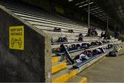 17 July 2020; St Martin's team kitbags are seen in the main stand prior to the Wexford County Senior Hurling Championship Group A Round 1 match between Oulart the Ballagh and St Martin's at Chadwicks Wexford Park in Wexford. Competitive GAA matches have been approved to return following the guidelines of Phase 3 of the Irish Government's Roadmap for Reopening of Society and Business and protocols set down by the GAA governing authorities. With games having been suspended since March, competitive games can take place with updated protocols including a limit of 200 individuals at any one outdoor event, including players, officials and a limited number of spectators, with social distancing, hand sanitisation and face masks being worn by those in attendance among other measures in an effort to contain the spread of the Coronavirus (COVID-19) pandemic. Photo by Brendan Moran/Sportsfile