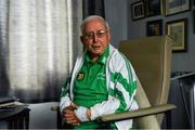 21 July 2020; Former Republic of Ireland squad kit manager Charlie O'Leary after watching the broadcast of Jack Charlton's funeral service, in West Road Crematorium, at his home in Dublin. The former Republic of Ireland manager Jack Charlton lead the Republic of Ireland team to their first major finals at UEFA Euro 1988, and subsequently the FIFA World Cup 1990, in Italy, and the FIFA World Cup 1994, in USA.  Photo by Ray McManus/Sportsfile