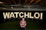 22 July 2020; Conor Clifford of Derry City at the launch of WATCHLOI, the SSE Airtricity League's new streaming platform, at Fuel Studios on Camden Street, Dublin. It is the league's first-ever streaming service which will deliver SSE Airtricity League Premier Division football to all supporters in Ireland and around the world. The Football Association of Ireland and RTE Sport, in collaboration with GAAGO, have partnered to deliver a world class streaming platform which will guarantee supporters can watch the #GreatestLeagueInTheWorld wherever they are on watchloi.ie. Photo by Stephen McCarthy/Sportsfile
