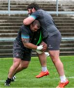 23 July 2020; Jack McGrath, left, and Tom O'Toole during an Ulster Rugby squad training session at Kingspan Stadium in Belfast. Photo by Robyn McMurray for Ulster Rugby via Sportsfile