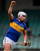 23 July 2020; Aaron Gillane of Patrickswell celebrates after scoring his side's second goal during the Limerick County Senior Hurling Championship Round 1 match between Patrickswell and Adare at LIT Gaelic Grounds in Limerick. Competitive GAA matches have been approved to return following the guidelines of Phase 3 of the Irish Government's Roadmap for Reopening of Society and Business and protocols set down by the GAA governing authorities. With games having been suspended since March, competitive games can take place with updated protocols including a limit of 200 individuals at any one outdoor event, including players, officials and a limited number of spectators, with social distancing, hand sanitisation and face masks being worn by those in attendance among other measures in an effort to contain the spread of the Coronavirus (COVID-19). Photo by Sam Barnes/Sportsfile