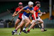23 July 2020; Aaron Gillane of Patrickswell in action against David Connolly of Adare on his way to scoring his sides first goal during the Limerick County Senior Hurling Championship Round 1 match between Patrickswell and Adare at LIT Gaelic Grounds in Limerick. Competitive GAA matches have been approved to return following the guidelines of Phase 3 of the Irish Government's Roadmap for Reopening of Society and Business and protocols set down by the GAA governing authorities. With games having been suspended since March, competitive games can take place with updated protocols including a limit of 200 individuals at any one outdoor event, including players, officials and a limited number of spectators, with social distancing, hand sanitisation and face masks being worn by those in attendance among other measures in an effort to contain the spread of the Coronavirus (COVID-19). Photo by Sam Barnes/Sportsfile