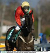 27 December 2003; Sidekick, with Gary Hutchinson up, pictured during the Paddy Power Festival 3-Y-O Hurdle, Leopardstown Racecourse, Dublin. Horse Racing. Picture Credit; Damien Eagers / SPORTSFILE *EDI*