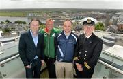 2 July 2013; In attendance at the Waterways Ireland triAthlone and Elite Junior European Cup official launch are, from left to right, Councillor Alan Shaw, Triathlon Ireland CEO Chris Kitchen, TriAthlone Chairman Liam Heavin, and Inspector of Navigation with Waterways Ireland Charlie Lawn. Sheraton Athlone, Athlone, Co. Westmeath. Picture credit: Diarmuid Greene / SPORTSFILE