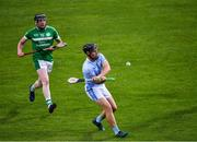24 July 2020; Peter Casey of Na Piarsaigh in action against Kevin O'Donnell of Kilmallock during the Limerick County Senior Hurling Championship Round 1 match between Kilmallock and Na Piarsaigh at LIT Gaelic Grounds in Limerick. GAA matches continue to take place in front of a limited number of people in an effort to contain the spread of the coronavirus (Covid-19) pandemic. Photo by Piaras Ó Mídheach/Sportsfile