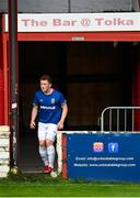 24 July 2020; Shayne Lavery of Linfield leaves the away team dressing-room located in the Tolka Bar prior to the club friendly match between Shelbourne and Linfield at Tolka Park in Dublin. Soccer matches continue to take place in front of a limited number of people in an effort to contain the spread of the coronavirus (Covid-19) pandemic. Photo by Harry Murphy/Sportsfile