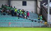 24 July 2020; Kilmallock players make their way from the stand to the pitch after half-time during the Limerick County Senior Hurling Championship Round 1 match between Kilmallock and Na Piarsaigh at LIT Gaelic Grounds in Limerick. GAA matches continue to take place in front of a limited number of people in an effort to contain the spread of the coronavirus (Covid-19) pandemic. Photo by Piaras Ó Mídheach/Sportsfile