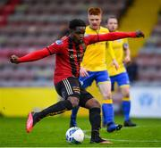 24 July 2020; Andre Wright of Bohemians during the club friendly match between Bohemians and Longford Town at Dalymount Park in Dublin. Soccer matches continue to take place in front of a limited number of people in an effort to contain the spread of the coronavirus (Covid-19) pandemic. Photo by Ramsey Cardy/Sportsfile