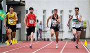 25 July 2020; Marcus Lawlor of St Laurence O'Toole's AC, Carlow, third from left, on his way to winning the Mens 100m event ahead of, from left, Shane Howard of Bandon AC, Cork, David Murphy of Kilkenny City Harriers AC, and Paul Costelloe of Emerald AC, Limerick, during the Summer Games Athletics Meet at Moyne AC in Tipperary. Photo by Piaras Ó Mídheach/Sportsfile