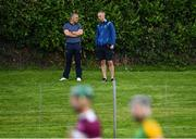 26 July 2020; Tipperary senior hurling manager Liam Sheedy, left, with his selector Tommy Dunne at the Tipperary County Senior Hurling Championship Group 4 Round 1 match between Toomevara and Borris-Ileigh at McDonagh Park in Nenagh, Tipperary. GAA matches continue to take place in front of a limited number of people in an effort to contain the spread of the Coronavirus (COVID-19) pandemic. Photo by Piaras Ó Mídheach/Sportsfile