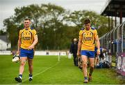 26 July 2020; Joe, left, and Jack Canning of Portumna following the Galway County Senior Club Hurling Championship Group 3 Round 1 match between Sarsfields and Portumna at Kenny Park in Athenry, Galway. GAA matches continue to take place in front of a limited number of people in an effort to contain the spread of the Coronavirus (COVID-19) pandemic. Photo by David Fitzgerald/Sportsfile