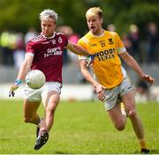 26 July 2020; Desmond Ward of Ballybay in action against Darragh Hughes of Clontibret during the Monaghan Senior Football Championship Group 1 Round 1 match between Ballybay Pearse Brothers and Clontibret O'Neills at Ballybay Pearse Brothers GAA Club, Ballybay in Monaghan. GAA matches continue to take place in front of a limited number of people in an effort to contain the spread of the Coronavirus (COVID-19) pandemic. Photo by Philip Fitzpatrick/Sportsfile