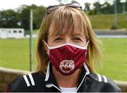 26 July 2020; Ballybay Secretary Teresa Mc Entee during the Monaghan Senior Football Championship Group 1 Round 1 match between Ballybay Pearse Brothers and Clontibret O'Neills at Ballybay Pearse Brothers GAA Club, Ballybay in Monaghan. GAA matches continue to take place in front of a limited number of people in an effort to contain the spread of the Coronavirus (COVID-19) pandemic. Photo by Philip Fitzpatrick/Sportsfile