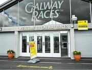 27 July 2020; A general view outside the racecourse prior to racing on day one of the Galway Summer Racing Festival at Ballybrit Racecourse in Galway. Horse racing remains behind closed doors to the public under guidelines of the Irish Government in an effort to contain the spread of the Coronavirus (COVID-19) pandemic. Photo by Harry Murphy/Sportsfile