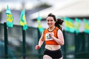 25 July 2020; Margaret Mary Grace of Nenagh Olympic AC, Tipperary, competing in the Senior Ladies 400m event during the Summer Games Athletics Meet at Moyne AC in Tipperary. Photo by Piaras Ó Mídheach/Sportsfile