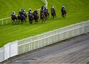 27 July 2020; A general view of runners and riders during the Easyfix Handicap on day one of the Galway Summer Racing Festival at Ballybrit Racecourse in Galway. Horse racing remains behind closed doors to the public under guidelines of the Irish Government in an effort to contain the spread of the Coronavirus (COVID-19) pandemic. Photo by Harry Murphy/Sportsfile