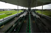 27 July 2020; A general view of runners and riders during the Connacht Hotel (Q.R.) Handicap on day one of the Galway Summer Racing Festival at Ballybrit Racecourse in Galway. Horse racing remains behind closed doors to the public under guidelines of the Irish Government in an effort to contain the spread of the Coronavirus (COVID-19) pandemic. Photo by Harry Murphy/Sportsfile