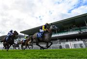 27 July 2020; Princess Zoe, with Finny Maguire up, right, on their way to winning the Connacht Hotel (Q.R.) Handicap on day one of the Galway Summer Racing Festival at Ballybrit Racecourse in Galway. Horse racing remains behind closed doors to the public under guidelines of the Irish Government in an effort to contain the spread of the Coronavirus (COVID-19) pandemic. Photo by Harry Murphy/Sportsfile